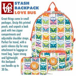LOVE Stash Backpack LOVE BUS